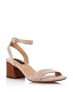 AQUA - Women's Carly Open-Toe Suede High-Heel Sandals - 100% Exclusive
