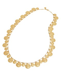 """Tory Burch - Coin Rosary Necklace, 32"""""""