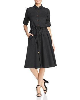 Donna Karan - Drawstring Waist Shirt Dress