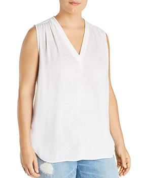 VINCE CAMUTO - Shirred Sleeveless Top