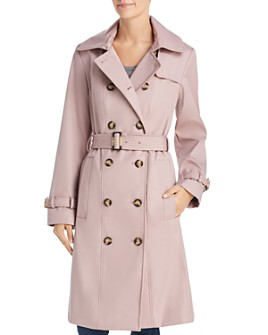 Calvin Klein - Double-Breasted Button Front Trench Coat