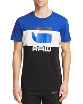 G-STAR RAW - Color-Block Logo Graphic Tee