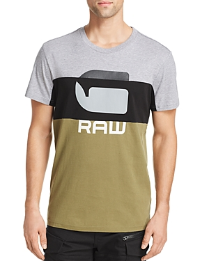 G-Star Raw Tops COLOR-BLOCK LOGO GRAPHIC TEE