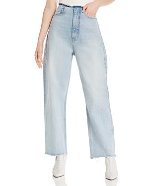 Alexanderwang.t Jeans ALEXANDERWANG.T SPLIT WIDE-LEG JEANS IN BLEACH