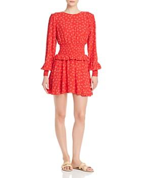 e4691f0a120 Finders Keepers - Frida Smocked Ruffled Mini Dress ...