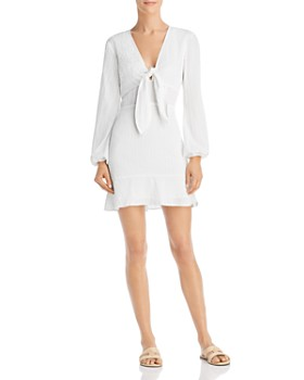 The Fifth Label - Hazel Tie-Detail Cotton Mini Dress
