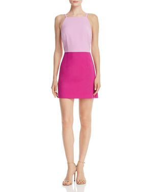 French Connection Whisper Color-Blocked Sheath Dress