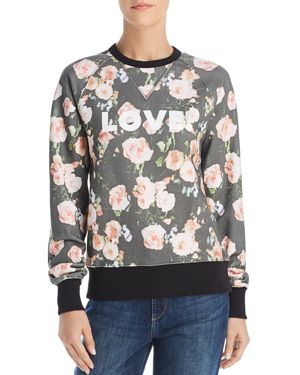 Rebecca Minkoff Jennings Love & Roses Graphic Sweatshirt