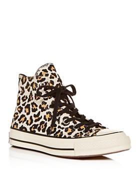 eeadd48b76af Converse - Women s Chuck Taylor All Star Leopard-Print High-Top Sneaker ...