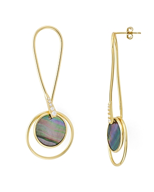 Argento Vivo Twist Mother-of-Pearl Drop Earrings in 18K Gold-Plated Sterling Silver