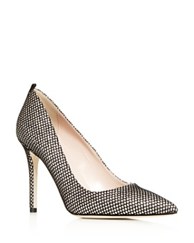 4a23ab648e2 SJP by Sarah Jessica Parker - Women s Fawn Fishnet Pointed-Toe Pumps ...