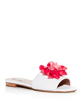 Tabitha Simmons - Women's Rose Embellished Slide Sandals