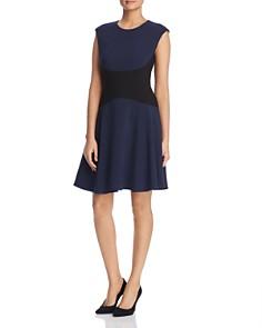 kate spade new york - Color-Blocked Crepe Dress