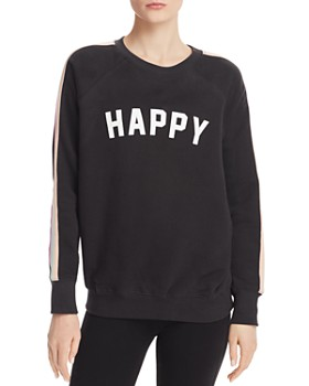 7f7efe5dbe6 Spiritual Gangster - Happy Striped-Sleeve Sweatshirt ...