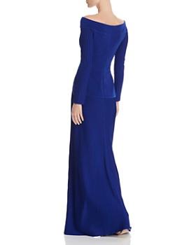 Tadashi Shoji - Pintucked Cutout Gown