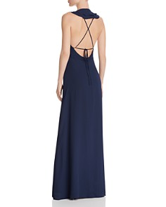 WAYF - Riley Lace-Up Back Wrap Dress