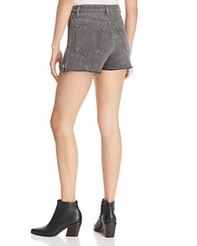rag & bone/JEAN - Maya Side-Zip Denim Cutoff Shorts in Shadow