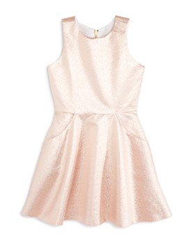 AQUA - Girls' Metallic Fit-and-Flare Dress, Big Kid - 100% Exclusive