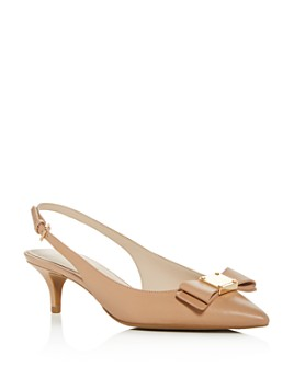 Cole Haan - Women's Tali Bow Slingback Kitten-Heel Pumps