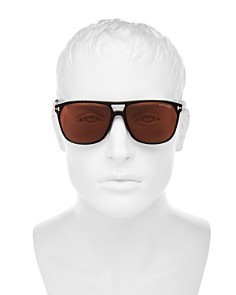 Tom Ford - Men's Shelton Brow Bar Square Sunglasses, 59mm