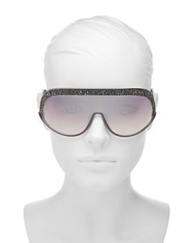 8e589640992 ... 99mm Jimmy Choo - Women s Embellished Mirrored Shield Sunglasses
