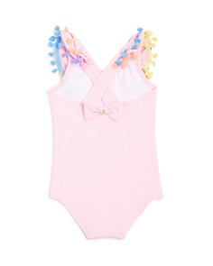 PilyQ - Girls' Ruffled om-Pom Swimsuit - Baby