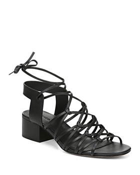 bab1066875abbe Vince - Women s Beaumont Leather Lace Up Block Heel Sandals ...