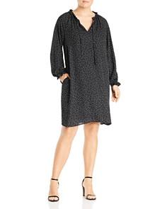 B Collection by Bobeau Curvy - Yvonne Dot-Print Shift Dress