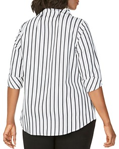 Foxcroft Plus - Cena Striped Non-Iron Tunic Top