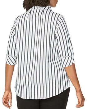 Foxcroft Plus - Cena Striped Non-Iron Tunic Top