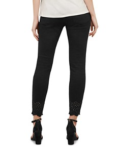 Ted Baker - Massiee Embroidered-Hem Skinny Jeans in Black