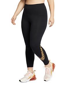 Nike Plus - Animal Print Logo Leggings