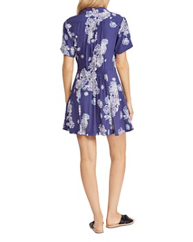 Free People - Blue Hawaii Fit-and-Flare Dress