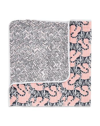 Aden and Anais - Girls' Pacific Paradise Reversible Print Blanket - Baby