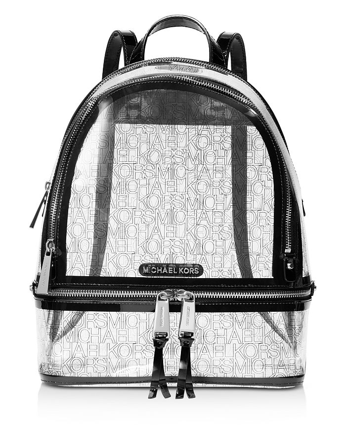 36d6f4061f1549 MICHAEL Michael Kors Rhea Zip Clear Backpack | Bloomingdale's