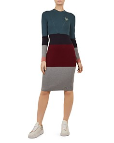 Ted Baker - Colour by Numbers Franae Color-Block Knit Dress