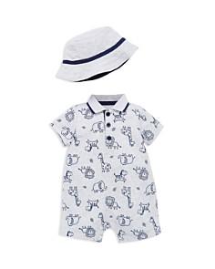 Little Me - Boys' Safari-Animal Romper & Sun Hat Set - Baby
