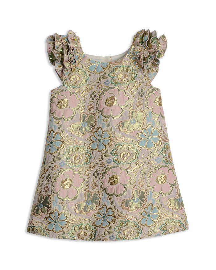 Pippa & Julie - Girls' Metallic Brocade A-Line Dress - Little Kid