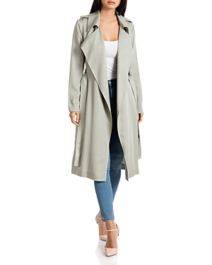 Badgley Mischka Coats ANGELINA BELTED TRENCH COAT