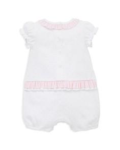Little Me - Girls' Spring Buds Romper & Sun Hat Set - Baby