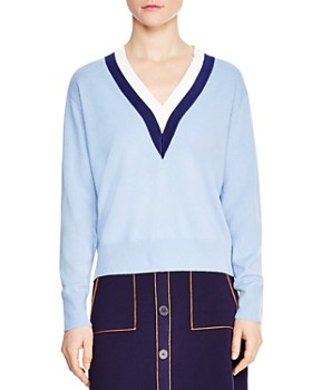 Sandro - Nael Wool & Cashmere V-Neck Sweater