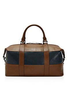 Ted Baker - Elton Striped Leather Holdall