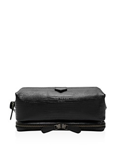 Ted Baker - Bublay Lizard-Embossed Leather Washbag