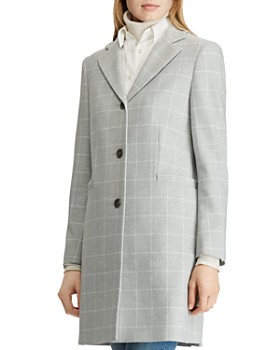Ralph Lauren - Gingham Crepe Reefer Coat