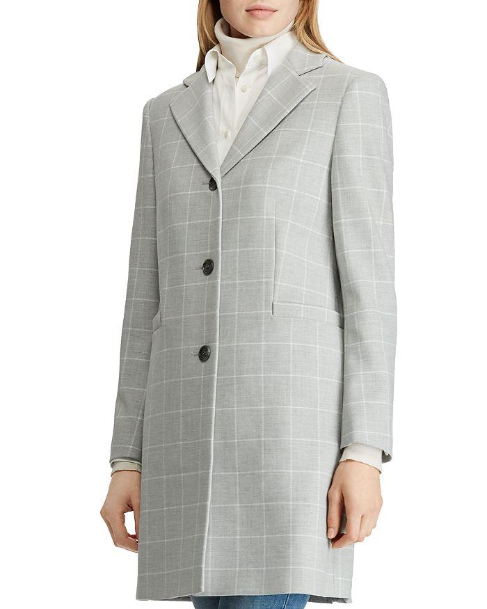 Ralph Lauren - Gingham Crepe Reefer Coat
