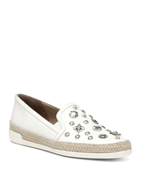 Donald Pliner - Women's Pamela Embellished Leather Espadrille Flats