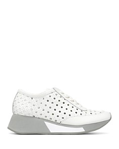 Donald Pliner - Women's Prit Embossed Leather Platform Sneakers
