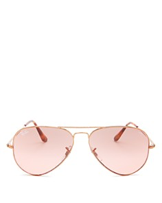 Ray-Ban - Women's Polarized Aviator Sunglasses, 58mm