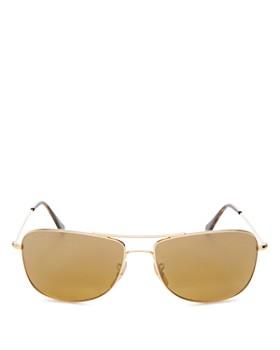 538b4c19154 Ray-Ban - Women s Mirrored Brow Bar Square Sunglasses
