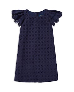 Ralph Lauren - Girls' Eyelet Woven Dress - Little Kid